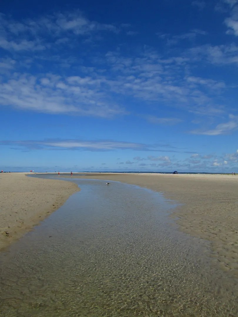 beach with shallow tidal flats