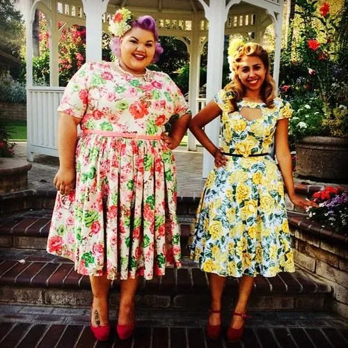 plus size cute floral outfit ashley nell tipton dress