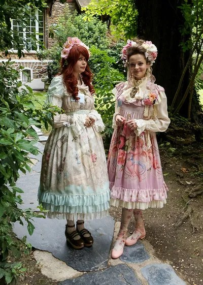 two romantic lolitas japanese style