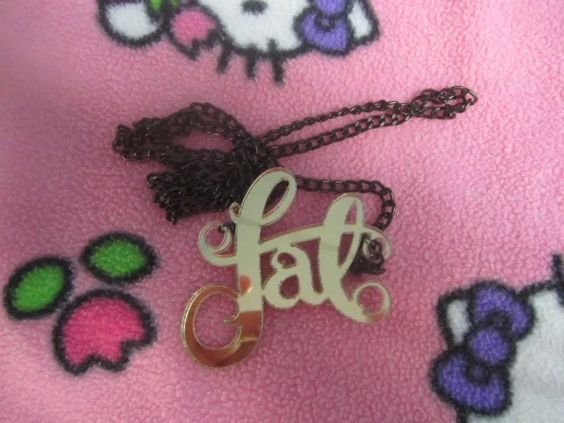 necklace that says