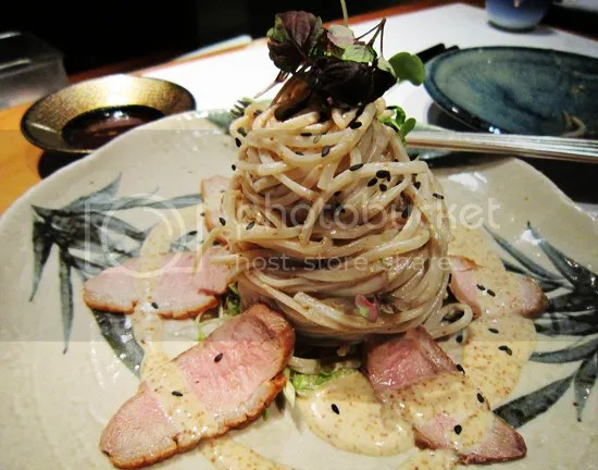 Koko, Soba noodles and duck