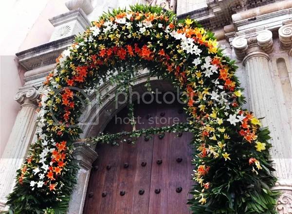 Oaxaca Cathedral flowers