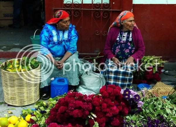 Oaxaca Market Flowers