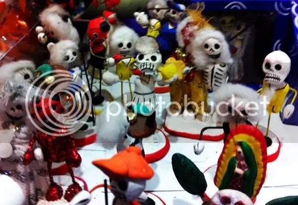 Oaxaca Mexico Skull figurines
