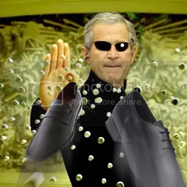 bush dodges shoes matrix