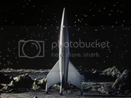 I'll take you to the moon, baby. Destination Moon rocket