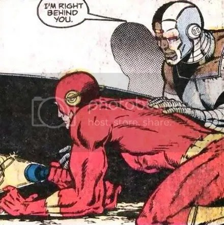 That's Cyborg getting frisky in Flash #4, the second volume