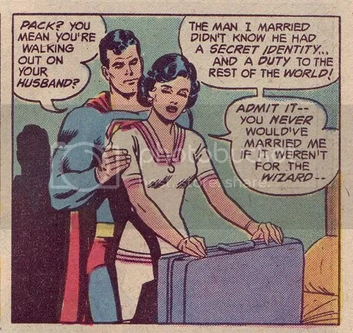Just lock her in your Fortress! That's Action Comics # 484 there