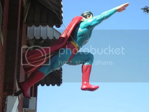 I think that's outside the Superman Museum in Chicago