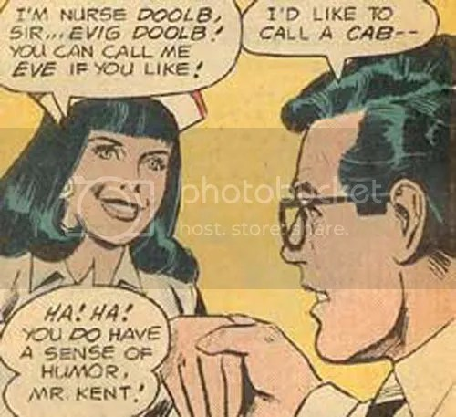Check out Lois' clever undercover name. Who does she think she is? Zatanna? This is from Superman Family #124.