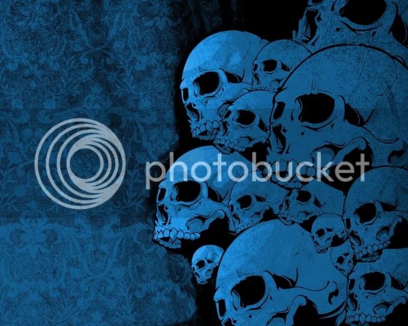 BLUE VECTOR SKULL FLIC FROM THE NET