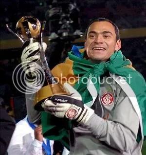 Clemer, portero del Campeon Internacional de Porto Alegre