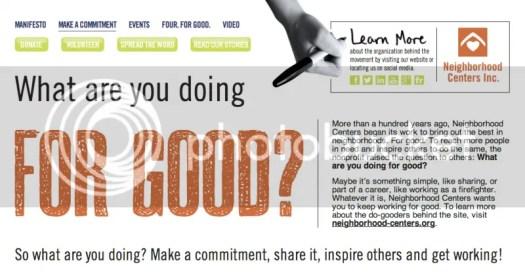 image: Neighborhood Centers -  iamforgood.org campaign