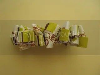 Funky green and brown mini bow