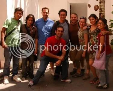 Alex, Jaime, Jorge, Miguel García, Toño, Rox, Vivi, Marianita y yo adelante.