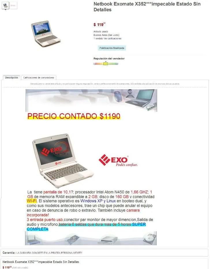 venta de netbook