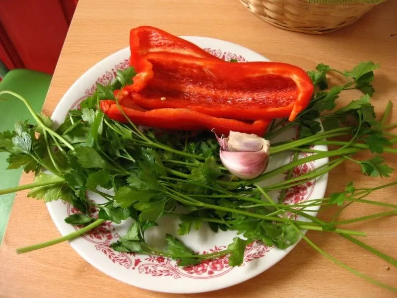 Ingredientes para el chimichurri