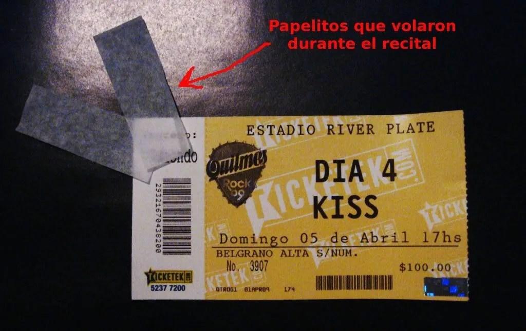 Entrada de Kiss