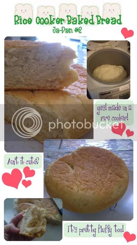 My UFO-looking Rice Cooker Bread... Hehe...