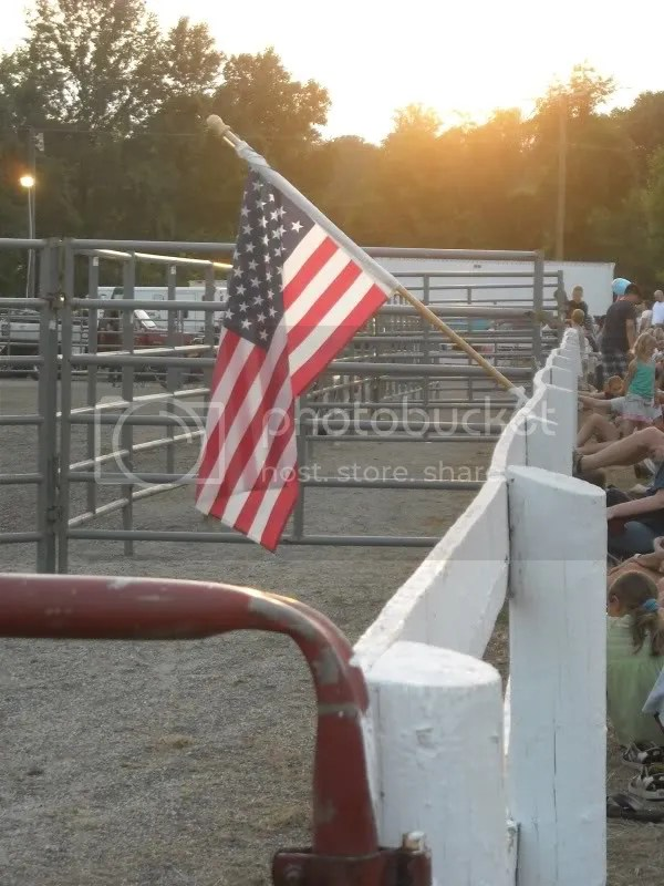 honoring our homeland, of course we sang the national anthem before starting the rodeo