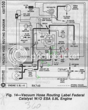 1985 emissions equipment locations?  Dodge Ram, Ramcharger, Cummins, Jeep, Durango, Power Wagon