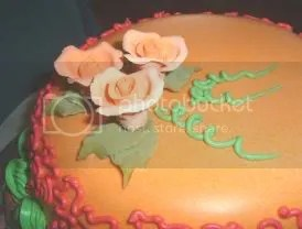 Cake decorated with steamed buttercream