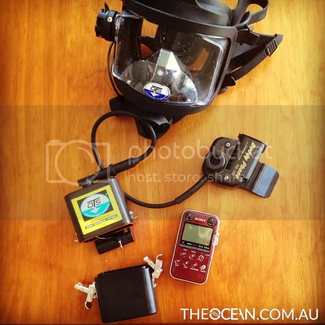 OTS Mask with Sony Recorder