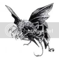 Mi-go, czyli dziwne, latające stwory.