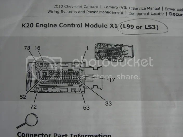 Camaro Pcm Pin Out Description And Wire Colors Ls3