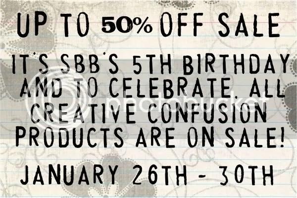 Creative Confusion 50% off Sale! :)