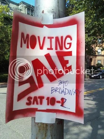 Moving Sale Stencil