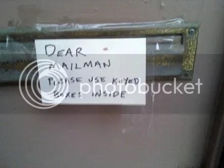 Letter to Mr. Postman