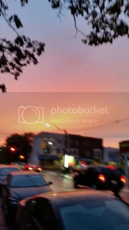 Blurry Sunset