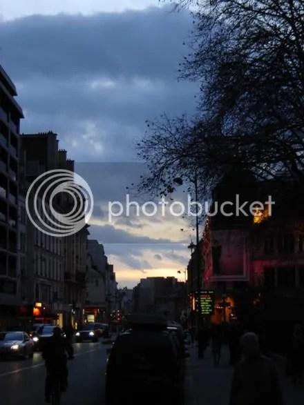 Rue de Sèvres at Dusk