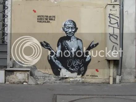 Stencil Gandhi