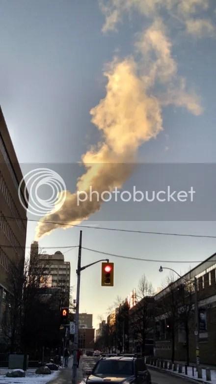 Sunlit Smoke