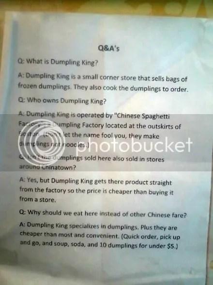 Dumpling FAQ