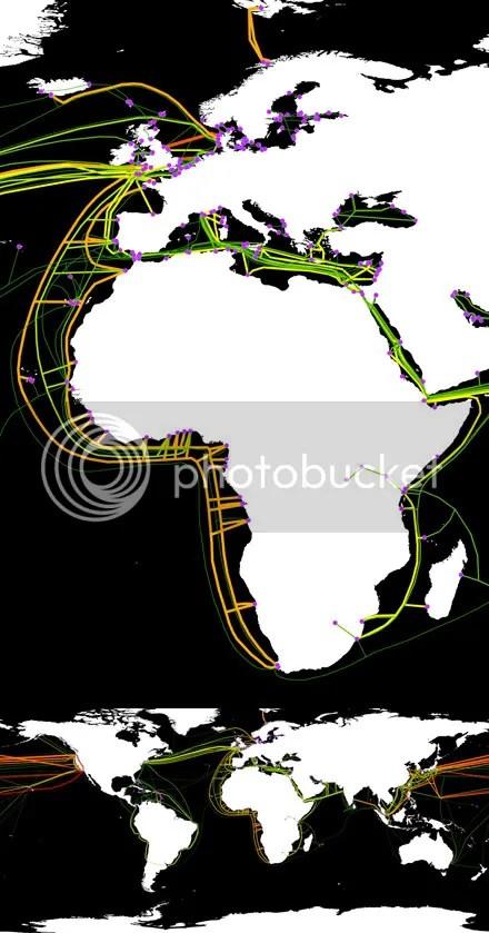 World Fiber Optic Lines