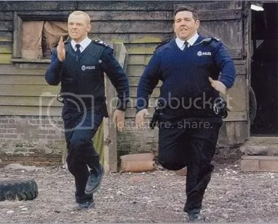 Pegg (left) and Frost (right) are RUNNING OUT OF TIME WHERE IS THE BOMB