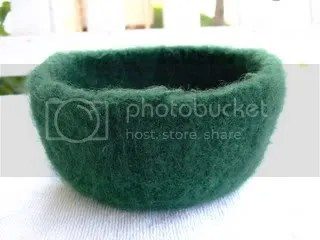 Emerald Felted Bowl