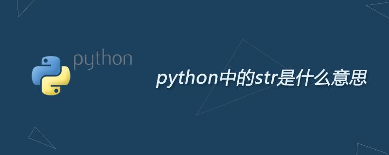 python中的str是什么意思-Python教程-PHP中文網
