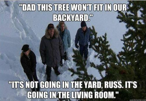 Image result for christmas vacation finding tree