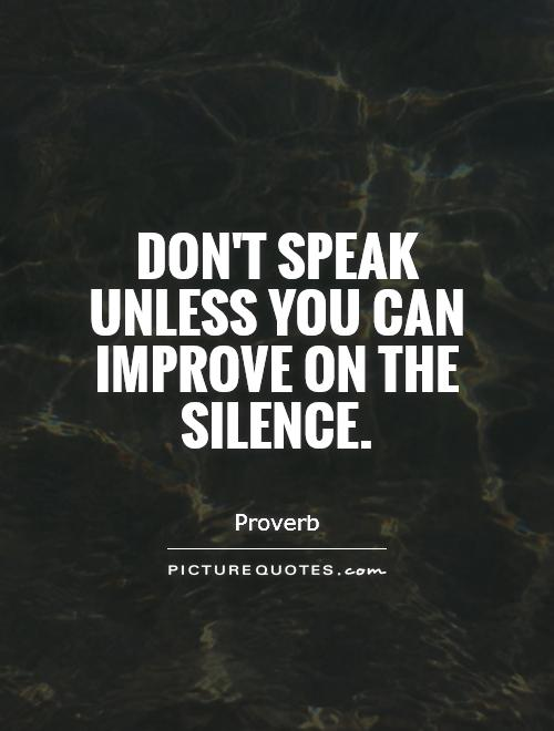 Image result for improve on silence