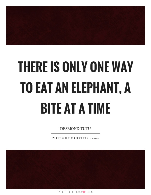 Image result for eat an elephant