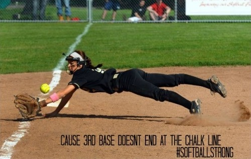third base softball quote 1 picture quote 1 - Softball Quotes for team With Images