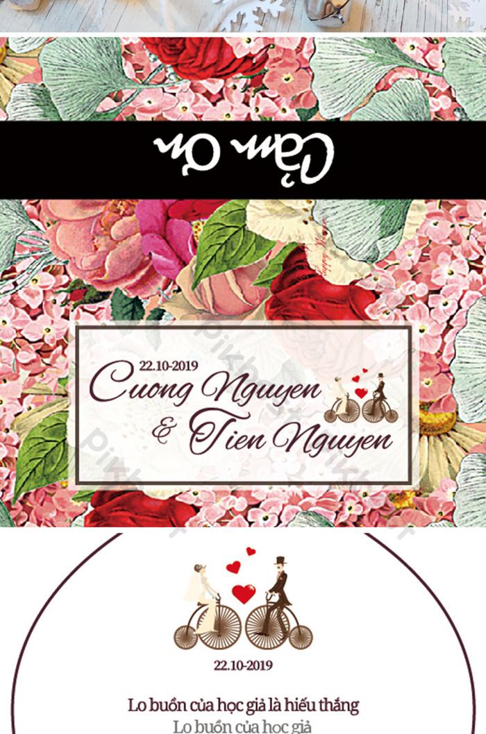 romantic elegant wedding invite card