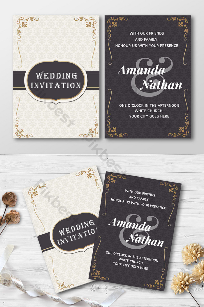 wedding card black and gold galleries