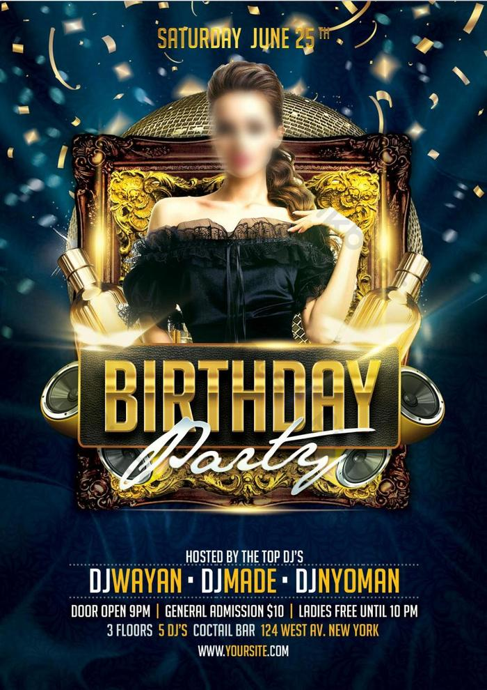 Luxury Birthday Party Flyer Psd Free Download Pikbest