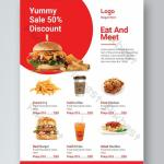 Clean And Simple Food Flyer Design For Fast Food Restaurant Psd Free Download Pikbest