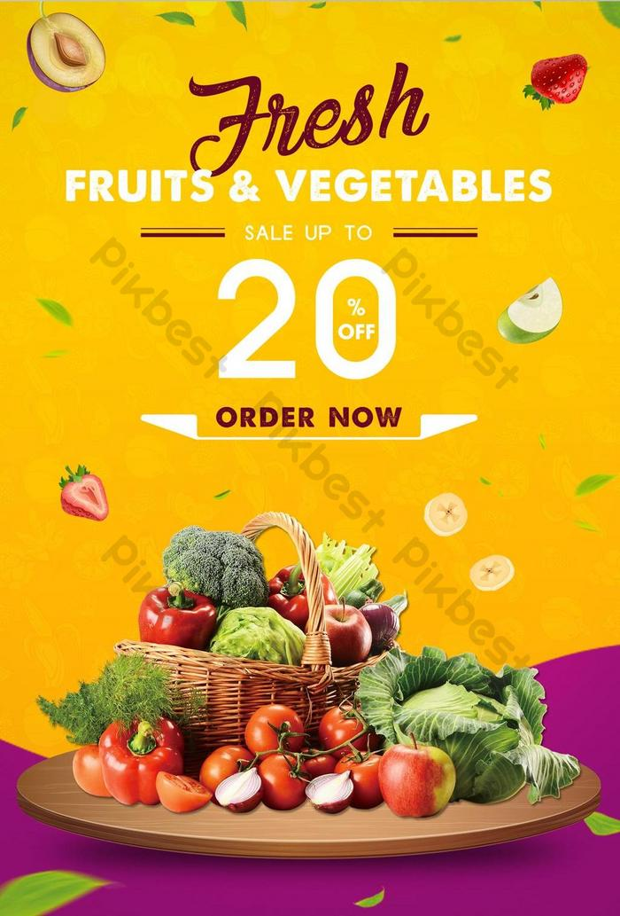 fresh fruits and vegetables poster